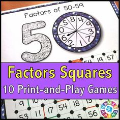 Factors 'Squares' Game - Games 4 Gains  - 1