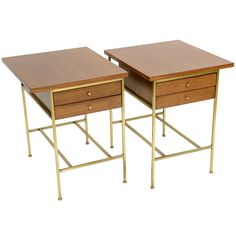 1stdibs.com | Pair of Paul McCobb Calvin Group End Tables ca.1960's