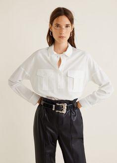 43dbbc12cedda2 Рубашка из лиоцелла с карманами - Рубашки - Женская