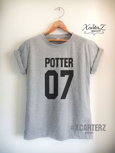Potter Shirt POTTER07 T-shirt Print on Front or Back by XcarterZ
