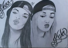 My first drawing of my two daughters