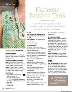 Harmony bamboo tank - 3/4 - Crochet casual wear