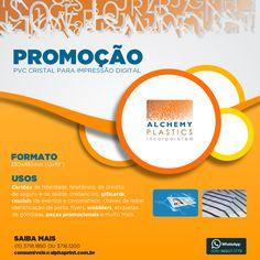 Aproveite a promoção de PVC cristal para impressão digital. #Cartões #Giftcards #Crachás #Etiquetas
