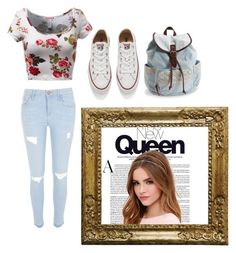 """""""Cute"""" by tomboygirly184 on Polyvore featuring beauty, River Island, Converse, Lulu*s and Aéropostale"""