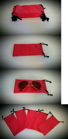Eyeglass Cases: Qty 100 Sunglasses Pouches Cases Waterproof Pink Cheap Bulk Lot Wholesale Usa -> BUY IT NOW ONLY: $30.0 on eBay!