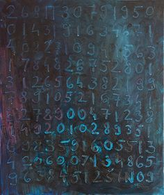 """Untitled (N) by Oliver Sin. """"I always wanted to paint about something more durable than others, that's why I use numbers. Numbers are the cards in a game we used to call universe."""""""