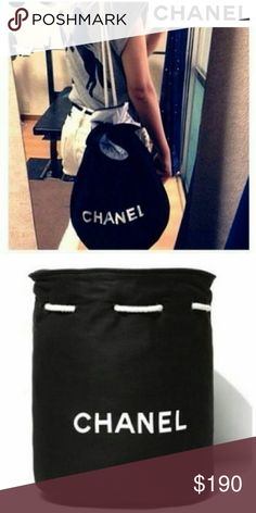 Chanel drawstring sack Black chanel drawstring sack in great condition. Chanel Bags Backpacks
