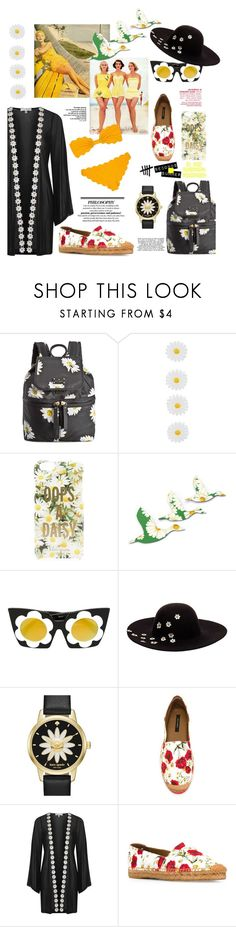 """""""Oops A Daisy!"""" by felicia-mcdonnell ❤ liked on Polyvore featuring Kate Spade, Accessorize, Linda Farrow, Betsey Johnson, Dolce&Gabbana, Topshop and Marysia Swim"""