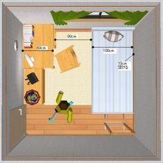『子供部屋-家具の配置方法』 Space Saving, Family Guy, Organization, Room, Baby, Character, Tiny House, Home Decor, Getting Organized