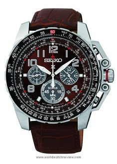 Seiko Prospex Solar Pilot Quartz Chronograph wristwatch in steel (Ref. SSC279)