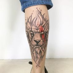 Lion Forearm Tattoos, Lower Leg Tattoos, Full Arm Tattoos, Forearm Tattoo Men, Life Tattoos, New Tattoos, Tattoos For Guys, Lion Tattoo Design, Tattoo Designs
