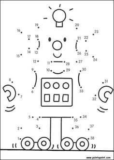preschool letter R r is for robot tracing page numbers letters - Kindergarten Preschool Letters, Preschool Lessons, Preschool Worksheets, Preschool Activities, Teaching Kids, Kids Learning, Dot Robot, Maternelle Grande Section, Dot To Dot Printables