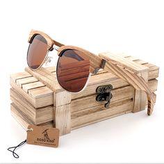 635e52a41f BOBO BIRD Semi Enclosure Design Unisex Ebony Wooden Stripe Of The Luxury  Brand Sunglasses oculos de sol masculino Eyewear