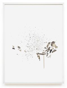 Explosion n°2  Collage gravures 50 x 70 cm Collection privée 2014  Claire Trotignon
