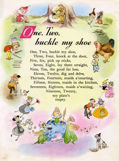 Nursery Rhyme Land illustrated by Hilda Boswell. I never knew this one past ten! Nursery Rhymes Lyrics, Old Nursery Rhymes, Nursery Songs, Nursery Rhymes Preschool, Rhyming Activities, Preschool Songs, Childhood Poem, Nursery Rymes, Kids Poems
