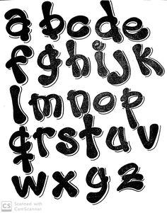Bullet Journal Diy, Bullet Journal Banner, Bullet Journal Writing, Hand Lettering Alphabet, Brush Lettering, Doodle Lettering, Bike Drawing, Alphabet Templates, Graffiti Font