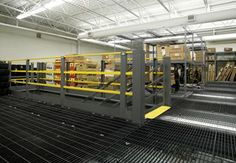 #MezzanineFloors -  Mezzanine systems quickly increase floor space and save money. Mezzanine racks are custom designed and tailored to your facility in a variety of decking options.
