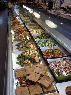 Display counter of salads
