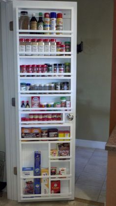 Spice rack on the inside of the pantry door? & DIY Pantry Door Spice Rack | Door spice rack Storage ideas and Pantry