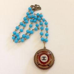Fun summer #Chanel button necklace