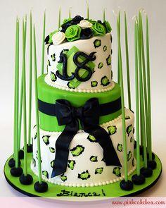 Cheetah Print 18th Debut Birthday Cake by Pink Cake Box