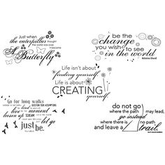 Unity Stamp 'Quote Bundle' Unmounted Red Rubber Stamps | Overstock.com Shopping - The Best Deals on Clear & Cling Stamps