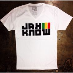 """Jah Know"" rasta t-shirt...$24.95 at cyevolution.com #Reggae #Cooyah"
