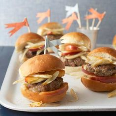 These Stuffed Sausage Sliders are filled with smoked provolone cheese. Recipe: http://www.bhg.com/recipe/stuffed-sausage-sliders/?socsrc=bhgpin063012