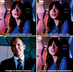"""#AgentsofSHIELD 2x14 """"Love in the Time of Hydra"""" - Skye and Coulson"""