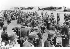 JU-52 German mountain troops prior to going to Crete