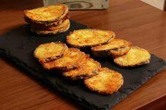 Chips de berenjena crujiente al horno