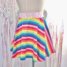 Rainbow stripe skirt 🌈💿✨