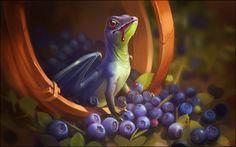 Blueberry dragon by GaudiBuendia.deviantart.com on @DeviantArt