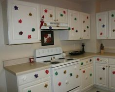 Have Elf put Christmas bows all over kitchen cabinets!