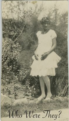 vintage pics of african americans | vintage african american photo | Who Were They?