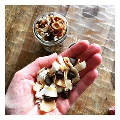 We can all relate to @eatingmadeeasy trail mix dilemma...making homemade trail mix then picking out the good stuff #chocolate #coconutchips #repost #trailmix #homemade #crunchon #healthysnacks