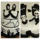 Halloween Wedding Cake - Jack Skellington and Sally
