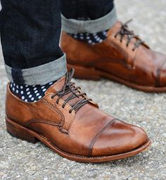 GENOA - Day or Night OUt Casual Men Oxford Shoes - Bed|Stu