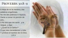 JESÚS PAN Y VIDA: Proverbios 30:8-9
