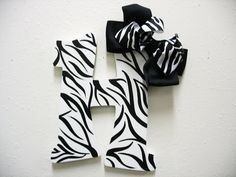 Wood Letter H Handpainted Zebra by TWOPINKDOTS on Etsy. $15.00 USD, via Etsy.