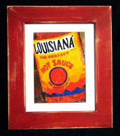 Distressed+11.25+x+13.25+Framed+Louisiana+Hot+by+DonCobbArtwork,+$41.99
