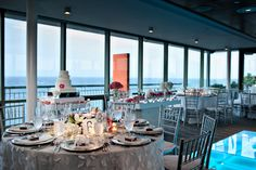 Salon Mirador @ La Concha Resort. Located in the 12th floor with crystal walls and a panoramic view of the ocean and the city.