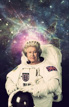 Queen Elizabeth II Astronaut Poster A Royal Space Print Space Artwork, Psy Art, Arte Pop, Queen Elizabeth Ii, Reaction Pictures, Trippy, Aesthetic Pictures, Collage Art, Album Covers