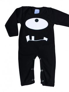 Monster Baby Clothes | Black Baby Sleepsuit