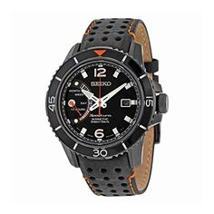 UK Gifts - Seiko Men's Quartz Watch Sportura Kinetic SRG021P1 with Leather Strap. It is an Amazon affiliate link.