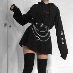 Bad Girl Outfits, Edgy Outfits, Teen Fashion Outfits, Grunge Outfits, Cute Casual Outfits, Pretty Outfits, Gothic Outfits, Egirl Fashion, Grunge Fashion