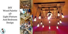 DIY Wood Palette 3D Light Fixture And Bedroom Design A How To Step by Step. - Fashion Beyond Forty - Google+