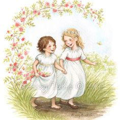 Daisy und Rose - Kunstdruck
