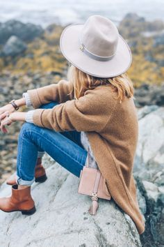 Fall Style: Cashmere Cable Sweater and Ankle Boots