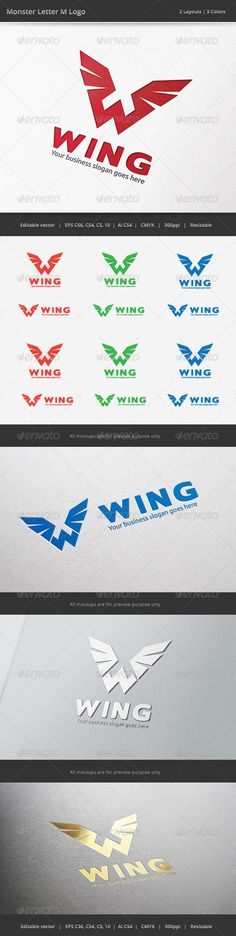 Wing W Letter Logo — Vector EPS #race #modern • Available here → https://graphicriver.net/item/wing-w-letter-logo/6703156?ref=pxcr